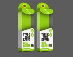 千分之三充电线数据线包装设计