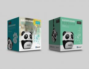 PANDA熊猫品牌蓝牙音箱包装设计
