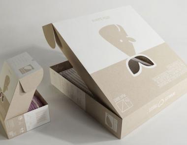 简洁的镂空纸盒包装设计作品欣赏