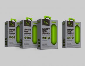千分之三充电器包装设计 USB充电器包装盒设计