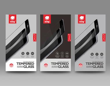 AINY钢化玻璃膜包装设计