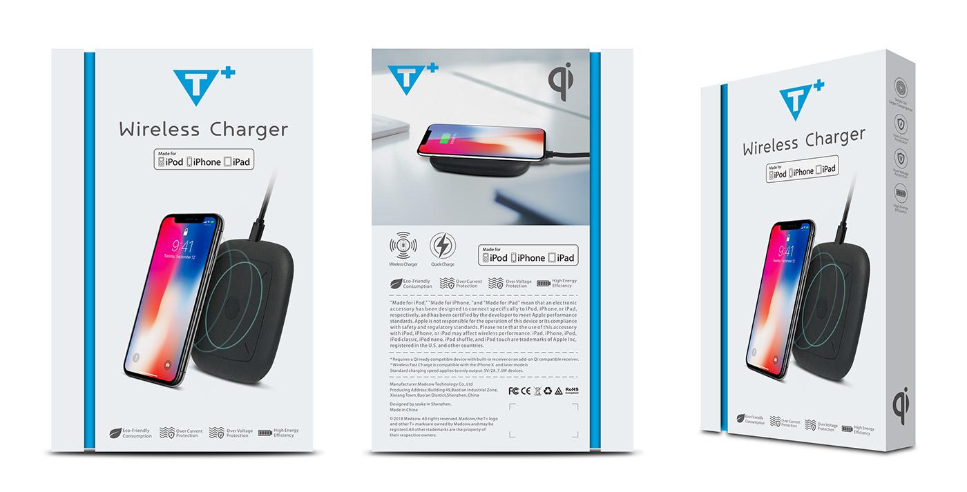 欣振声无线充电器包装设计-youjoys.net