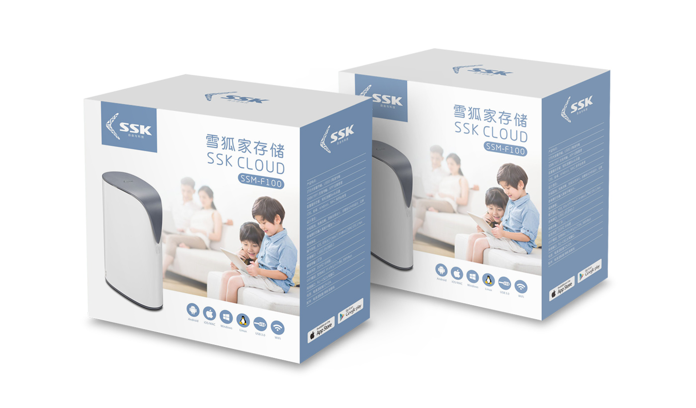 SSK飙王蓝牙音箱包装设计-youjoys.net