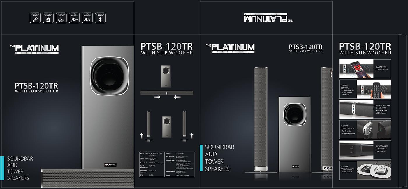 The PLATINUM声霸音箱包装设计-youjoys.net