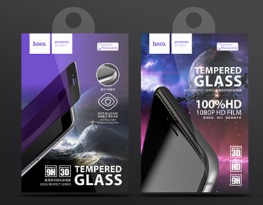hoco浩酷手机钢化膜包装设计