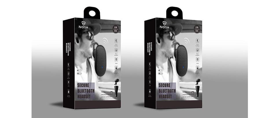 NOSH蓝牙耳机包装设计 通话保密蓝牙耳机设计-youjoys.net