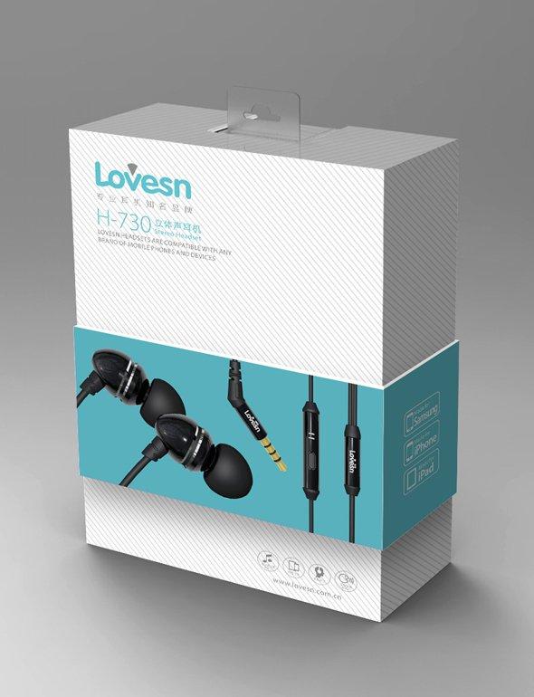 Lovesn海韵耳机包装设计 蓝牙耳机包装设计-youjoys.net